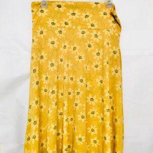 LuLaroe Sunflower Azure Skirt